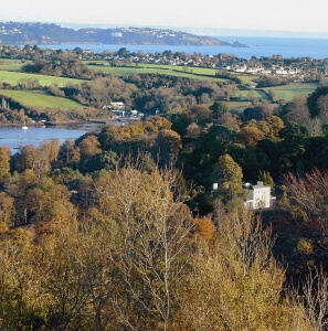 View over Greenway with Torbay in the background