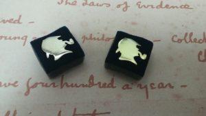 Set of Two Sherlock Holmes Lapel Pins