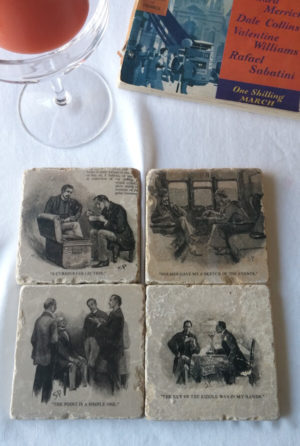 Sherlock Holmes marble coasters