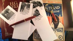 Sherlock Holmes Desk Set: Notepads, pen, and magnifying glass...