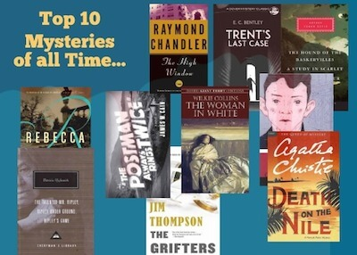 Top Ten Mystery Novels of all Time