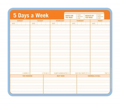 Enlarge Image 5 Days a Week- Mousepad