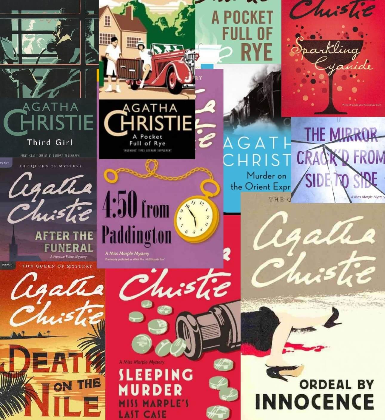 top ten agatha christie novels set
