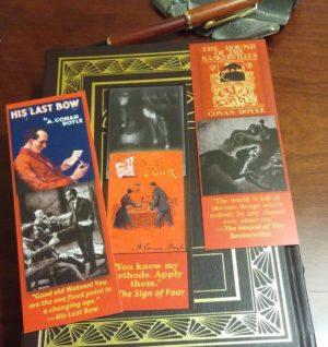 Sherlock Holmes Bookmark set
