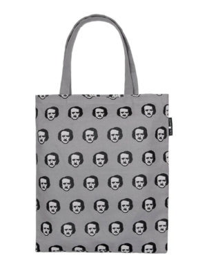 EDGAR ALLAN POE-KA DOTS: GRAY Tote Bag