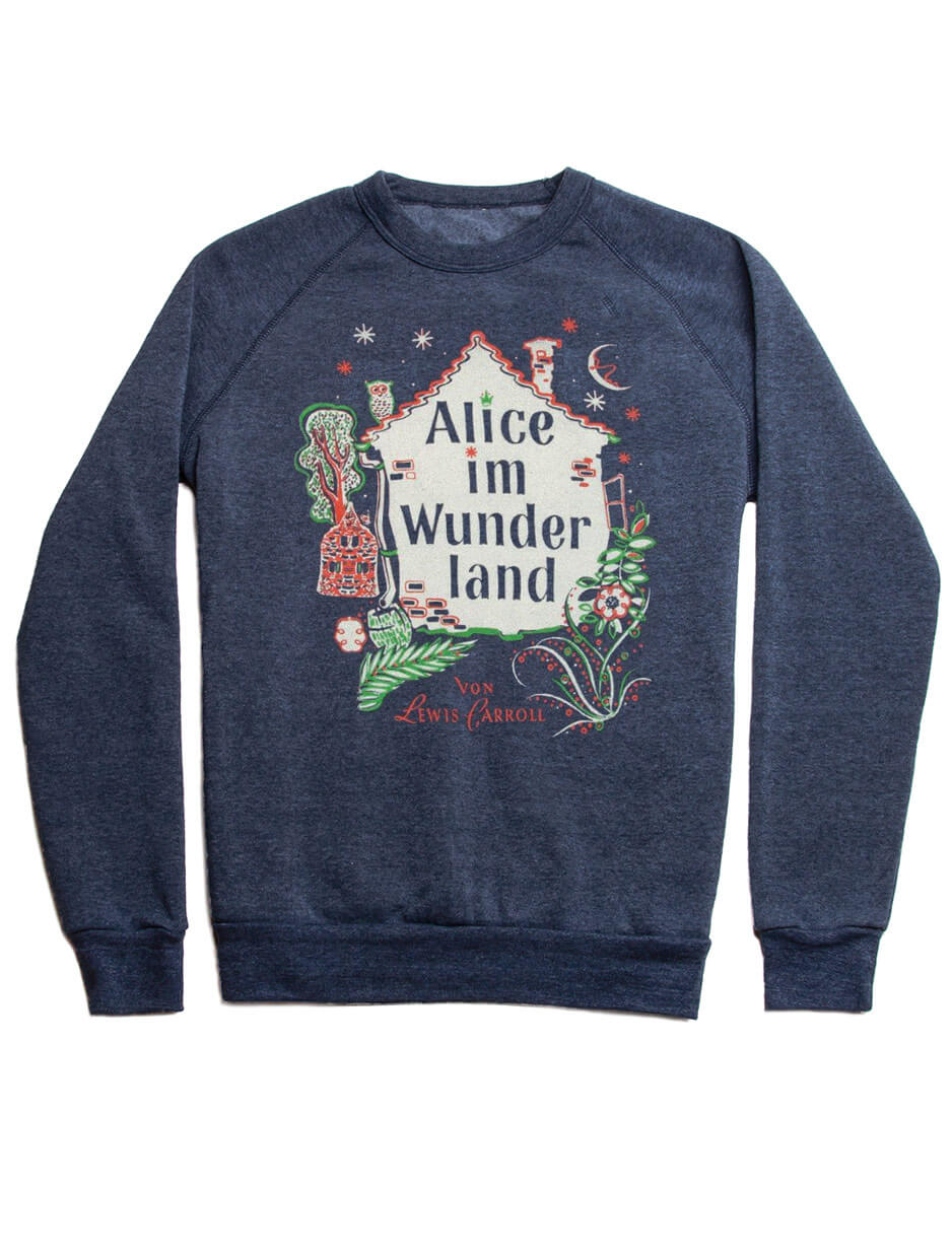 Alice In Wonderland Fleece Sweatshirt German Edition