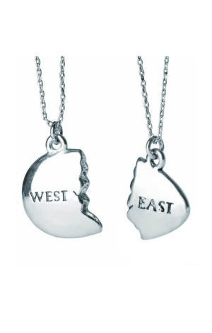 EAST/WEST EGG (SILVER) - THE GREAT GATSBY NECKLACE (2 PCS)