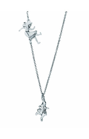FALLING ALICE (SILVER) - ALICE IN WONDERLAND Necklace
