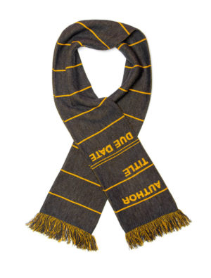 LIBRARY CARD SCARF (GRAY)