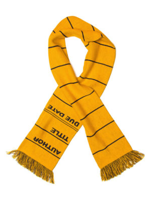 LIBRARY CARD SCARF (YELLOW)