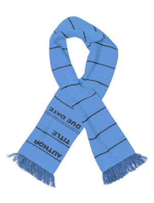 Long LIBRARY CARD SCARF (BLUE)