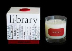 Leather Library Candle