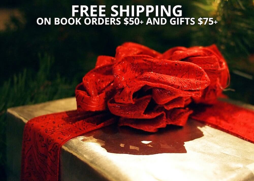 The Strand's Online Shop has free shipping on book orders of $50 or more or gift orders $75 or more!