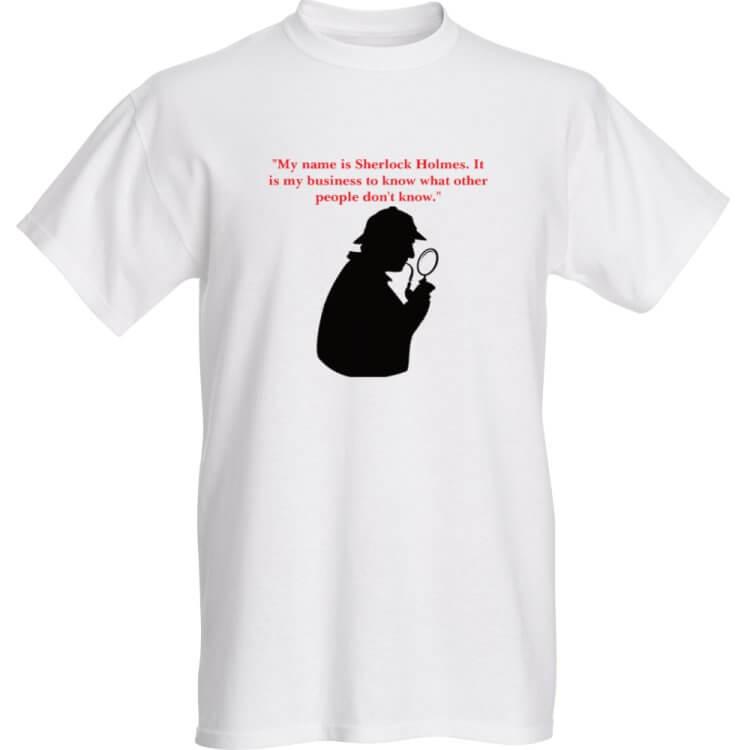 """My name is Sherlock Holmes"" T-Shirt"