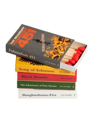 Banned BOOKS MATCHBOX SET