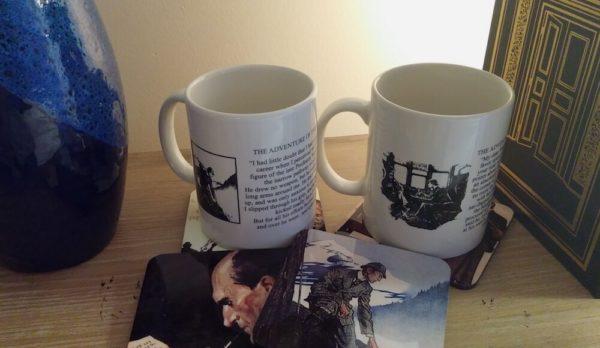 Sherlock Holmes Coffee Mug and Set of Full Color Coasters
