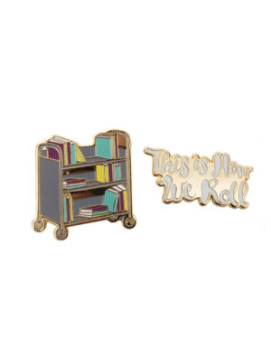 BOOK TRUCK (THIS IS HOW WE ROLL) Lapel Pin Set