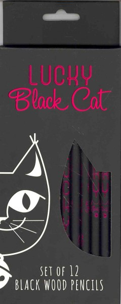 Lucky Black Cat - Set of 12