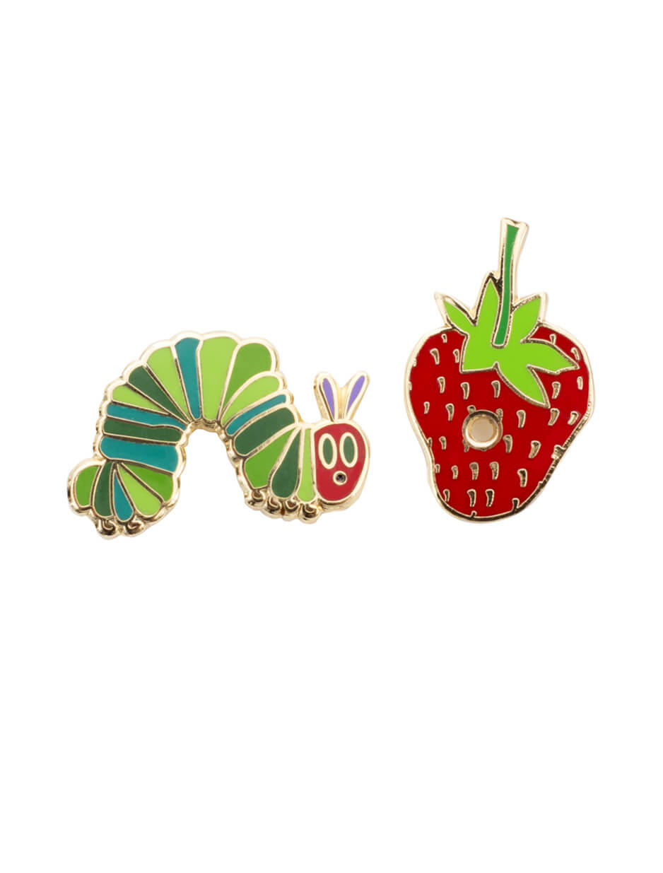 the very hungry caterpillar lapel pin set   strand mag