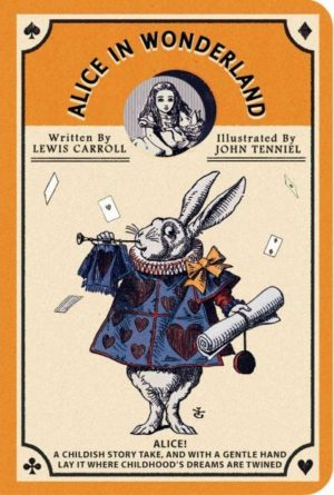 Alice in Wonderland Stitch Pocket Lined Notebook (Orange)