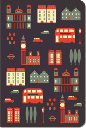 London Stitch Blank Pocket Notebook LANDMARKS