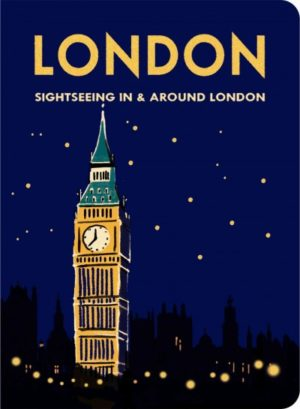 London Stitch Lined Small Notebook (BIG BEN AFTER DARK)