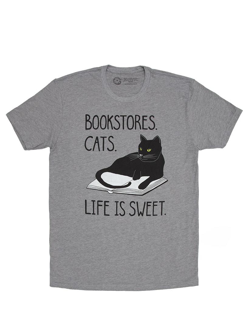 abe985f16 Bookstore-Cats-Life-is-Sweet-T-Shirt-Unisex.jpg