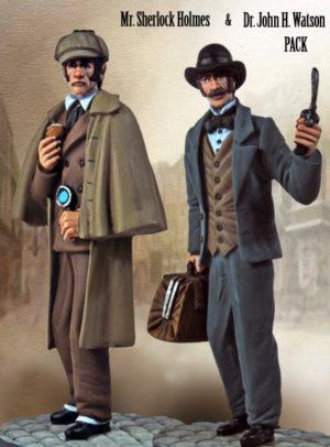 Sherlock Holmes and Dr Watson Figurine Set