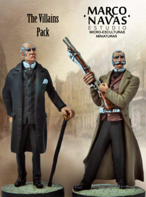 Moriarty and Col. Sebastian Moran Figurine Set