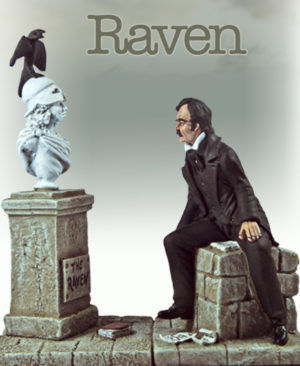 Edgar Allan Poe and The Raven Figurine
