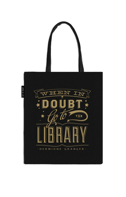 When in Doubt Go the Library Tote Bag
