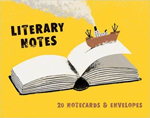 Literary Notes- 20 Notecards & Envelopes