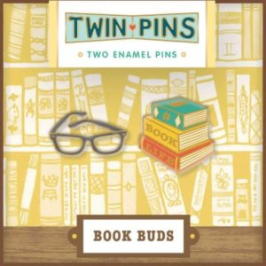 Pin Pals Book Buds- 2 Enamel Pins