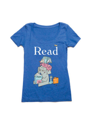 ELEPHANT AND PIGGIE READ Women's T-Shirt (SCOOP)
