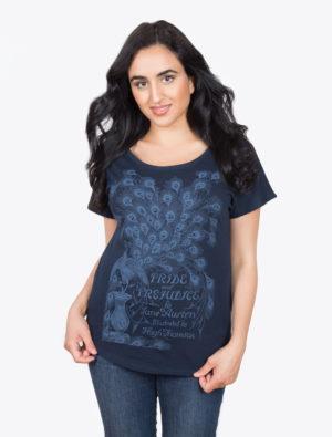 Pride and Prejudice Women's T Shirt (Scoop) Navy Blue