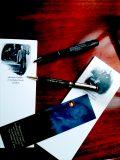 Sherlock Holmes Desk Set: Notepads Set II, Sherlock Holmes Gold Plated Pen, Sherlock Holmes Pen Light, and Bookmark