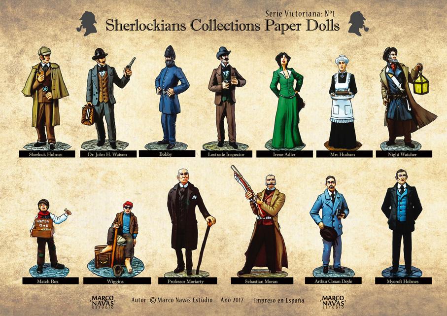 Sherlock Holmes paper dolls