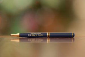 sherlock holmes gold plated pen