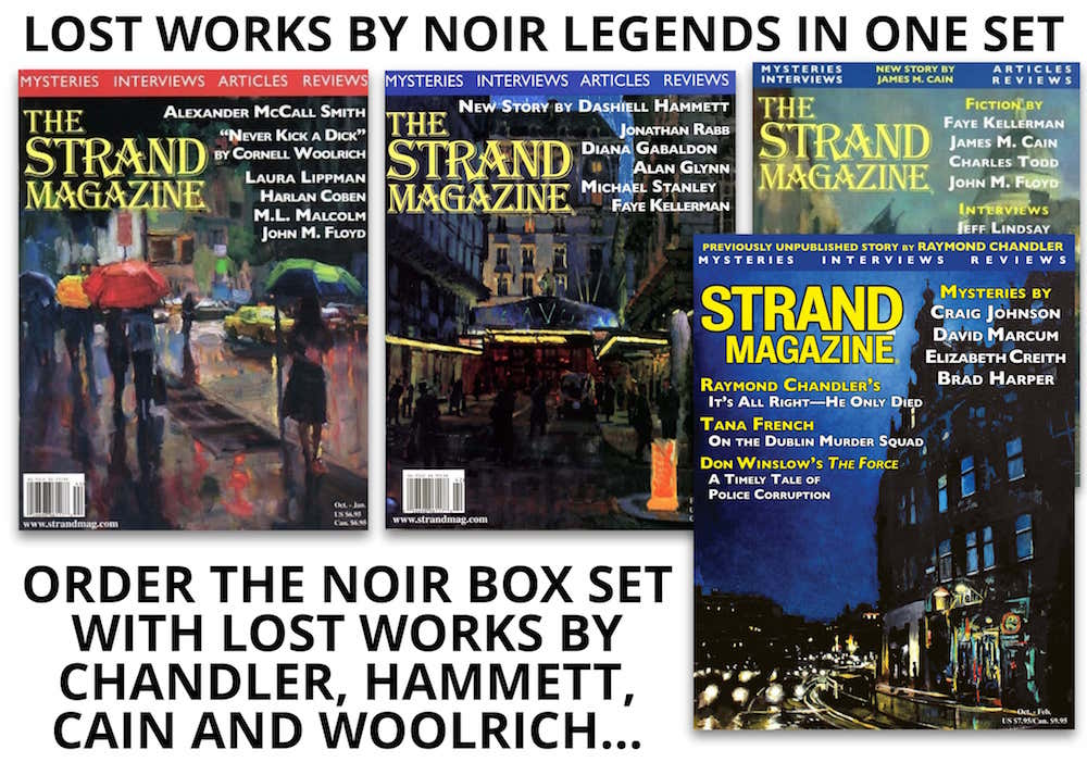 noir master box set with works by Chandler, Hammett, Cain, and Woolrich