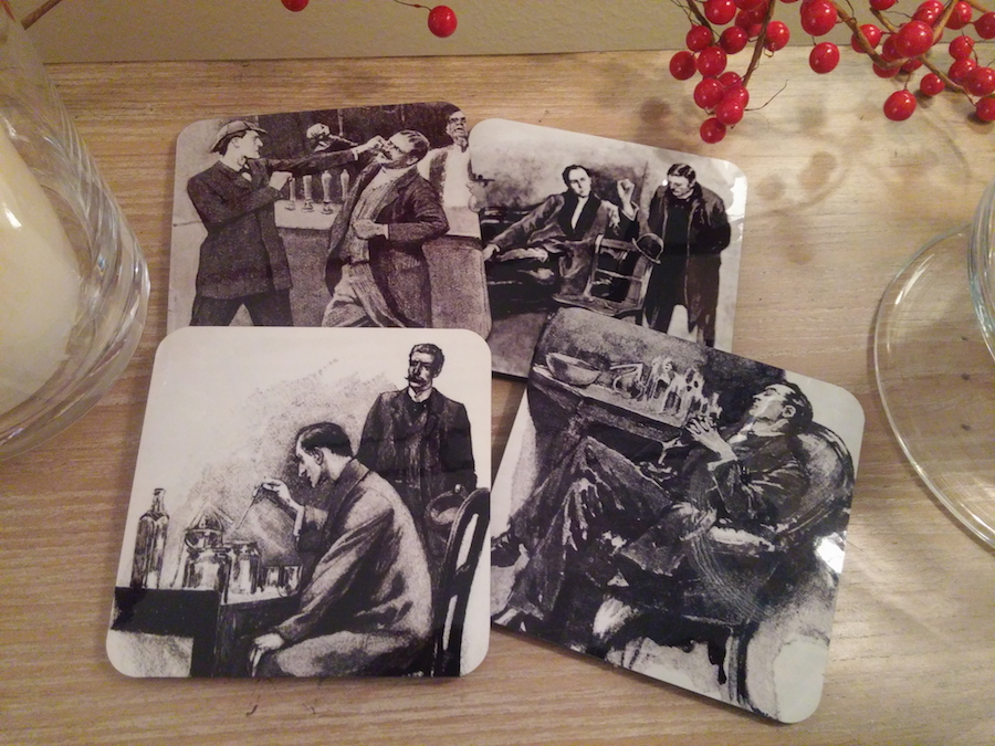 Sherlock Holmes coaster set II