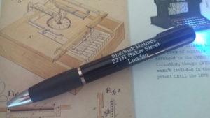 sherlock holmes pen:flashlight