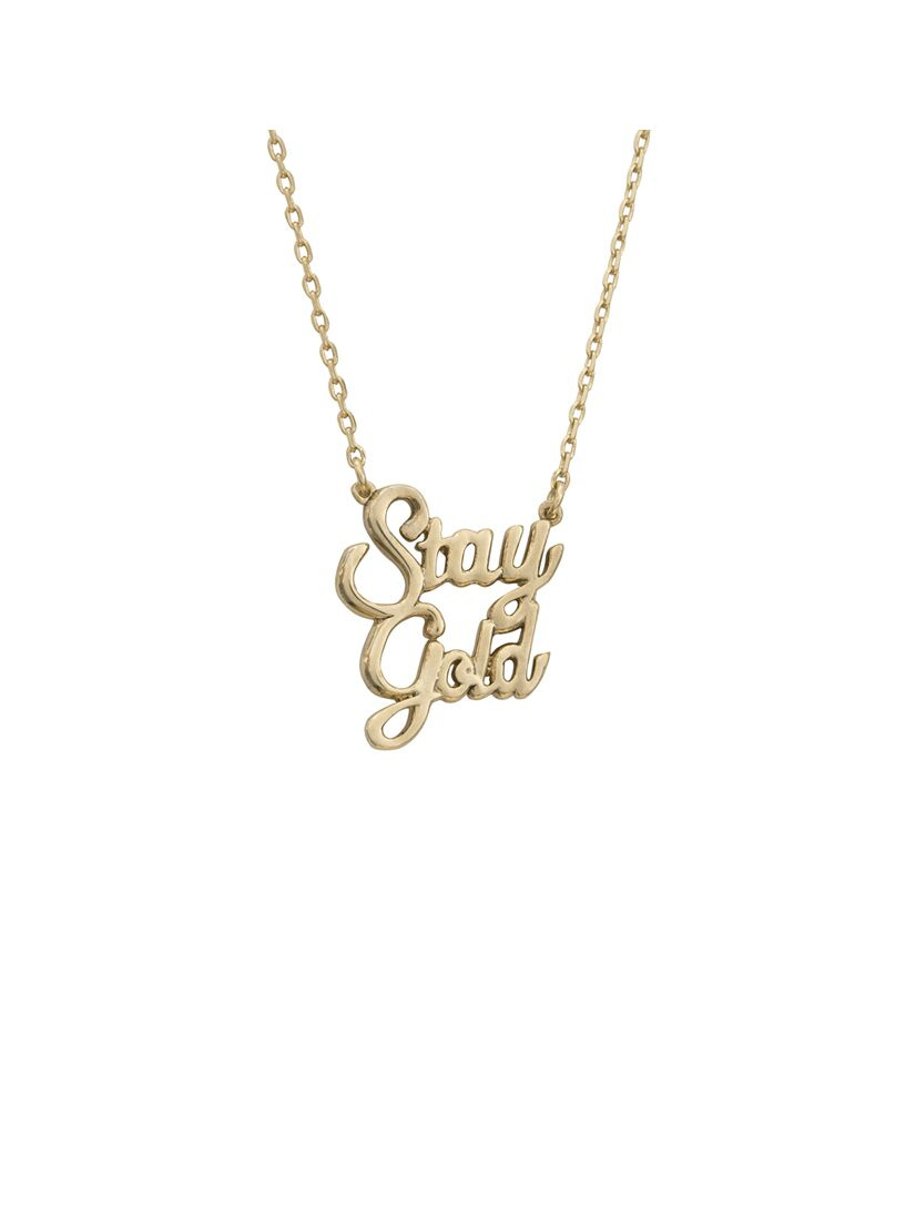Stay Gold, Gold Necklace