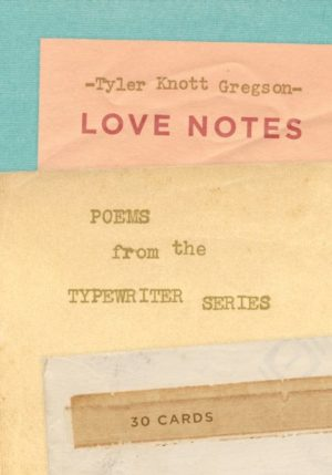 Love Notes - 30 Cards Postcard Book- Poems from the Typewriter Series
