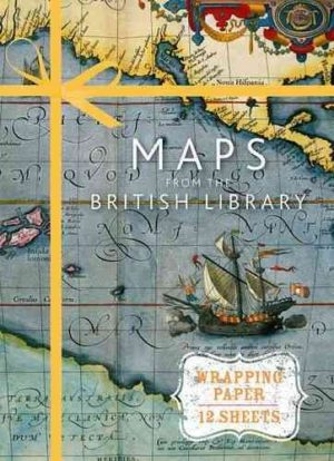 Maps from the British Library Wrapping Paper- 12 Sheets