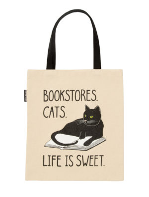 BOOKSTORE CATS LIFE IS SWEET TOTE