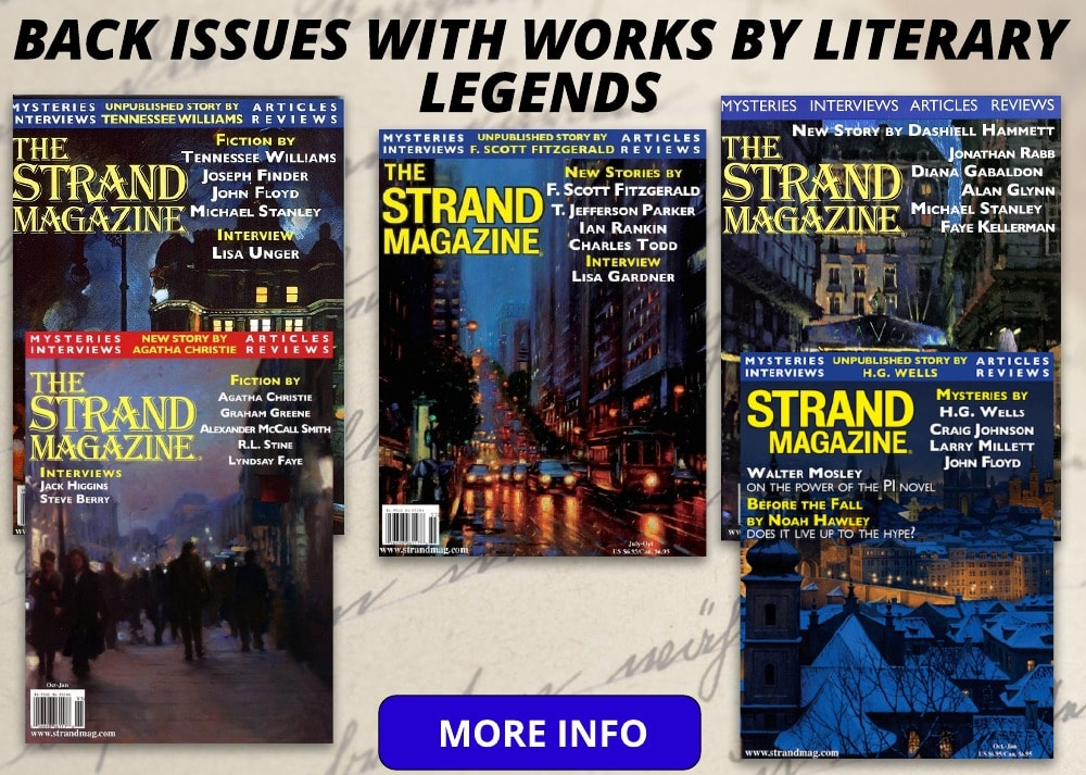 back issues with works by literary legends