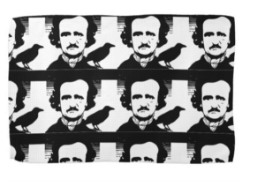 Edgar Allan Poe and The Raven Dish Towel