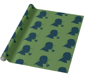 Sherlock Holmes Wrapping Paper (Green)