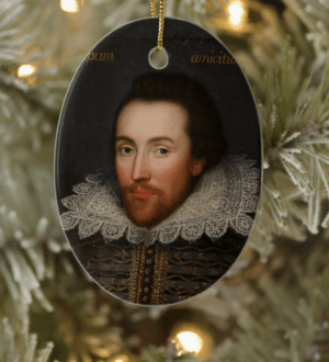 William Shakespeare Christmas Tree Ornament