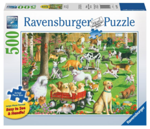 At the Dog Park 500 Piece Large Puzzle